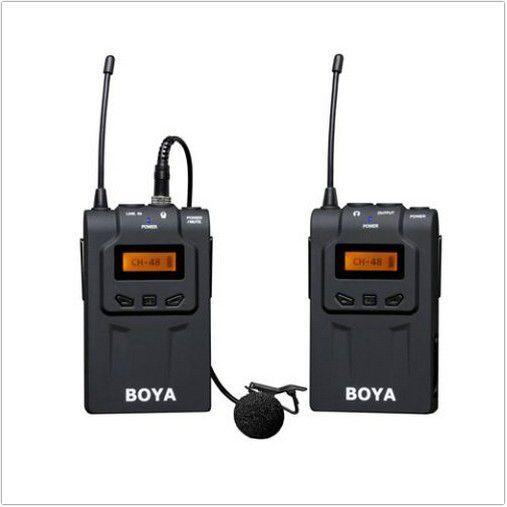 Microfone Lapela Sem Fio Boya BY-WM6 - UHF Wireless p/camera Digital e Filmadora