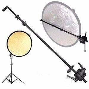 Suporte para Rebatedor Circular ou Oval 40cm a 120cm de comprimento. Ref: PK-BA1