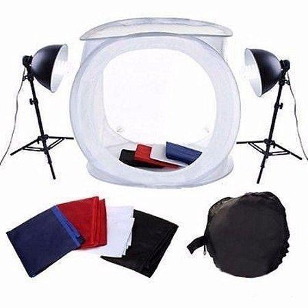 Kit Mini Estudio para Fotos Still com Tenda Translucida 40x40cm  Ref: PK-ST07
