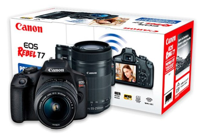 Camera Canon Eos Rebel T7 Premium Kit Lentes 18 55mm E 55 250mm Is