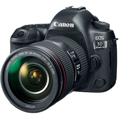 Canon EOS 5D Mark IV DSLR com  24-105mm f/4L II