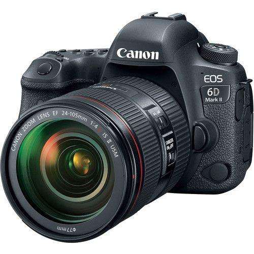 Câmera DSLR Canon EOS 6D Mark II com lente 24-105mm f / 4L II