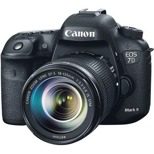 Camera Canon Digital EOS 7D Mark II Lente STM 18-135mm f/3.5-5.6   20.2MegaPixles
