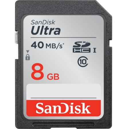 Cartão de Memória SanDisk Ultra SDHC de 8 GB  40MB/s  Classe 10