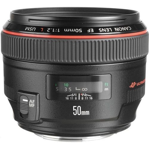 Objetiva Canon  EF 50mm f/1.2L USM