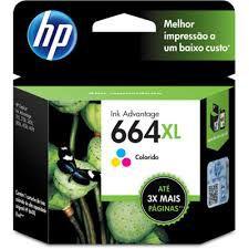 Cartucho de Tinta HP 664XL 664 Color F6V30AB F6V30A | 1115 2136 3636 3836 3536 4676 | Original 8ml