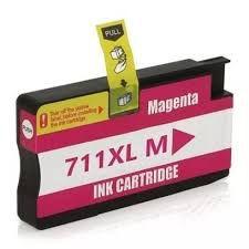 Cartucho de Tinta Compatível HP 711 Magenta CZ131A | T520 T120 CQ890A CQ891A CQ893A | Importado 28ml