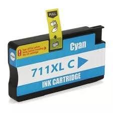 Cartucho de Tinta Compatível HP 711 Ciano CZ130A | T520 T120 CQ890A CQ891A CQ893A | Importado 28ml