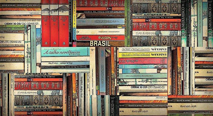 Painel e Quadro Magnético - Livros 100x50cm