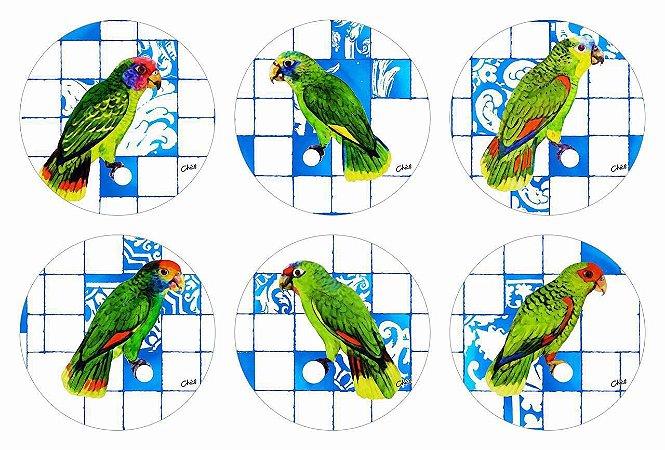 Jogos Americanos Redondos - Papagaios (Jogo com 6 unidades)