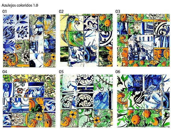 Almofada Azulejos coloridos (UNIDADE)