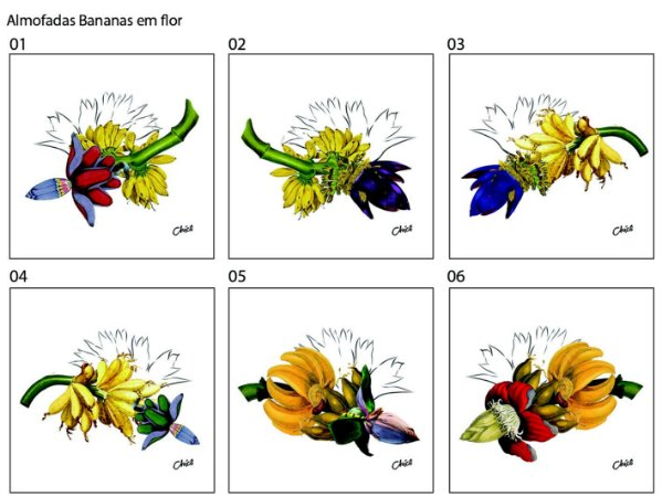 Almofada Bananas em flor (UNIDADE)