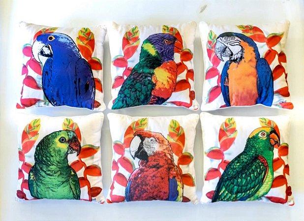 Almofada Aves Brasileiras (CONJUNTO)