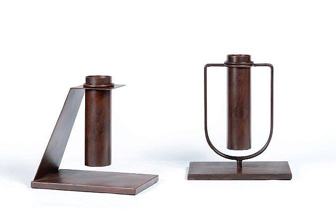 vaso tubo em ferro