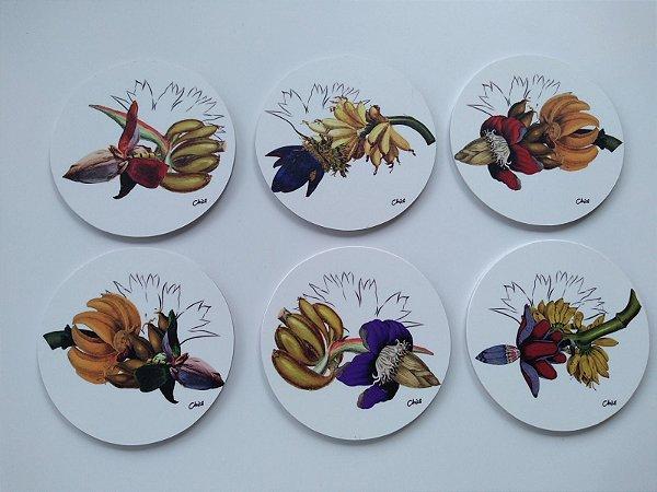Porta Copos Flor de bananeira (6 unidades)