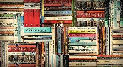Painel e Quadro Magnético Livros do Brasil 100x50cm