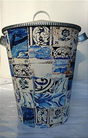 Latão 50 litros Azulejos - Olhar o Brasil
