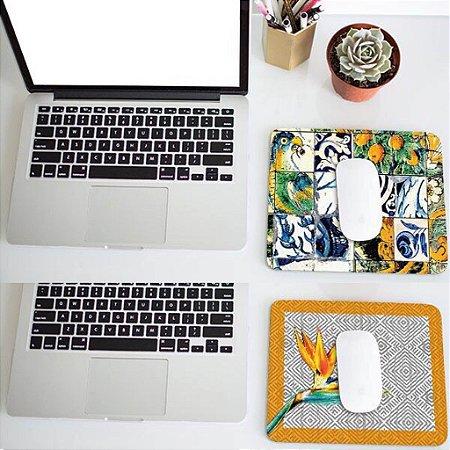 2 Mousepads: Azulejos e Pássaros
