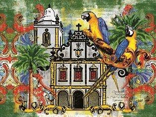 Lona Igreja e o Pássaro (165x132 cm)