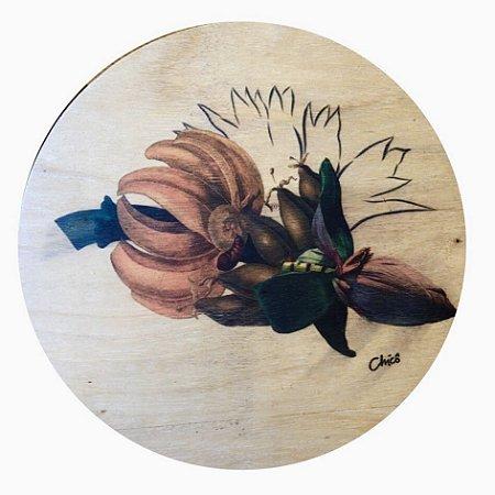 Centro Mesa Giratório Flor de Banana - 50 cm