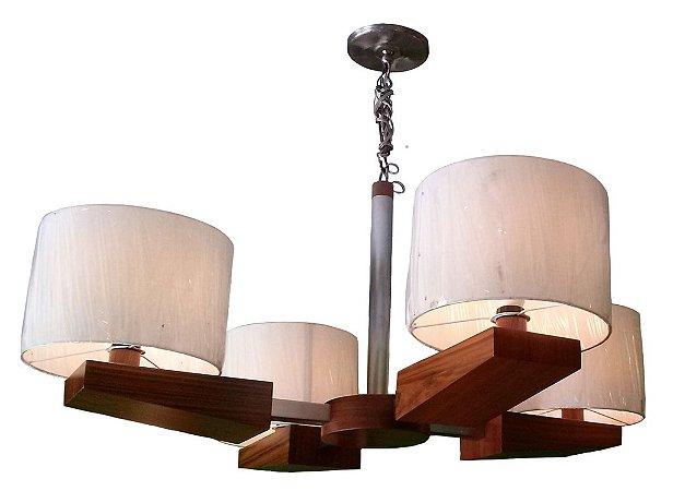 Lustre Olhar o Brasil 05 - 110cm Ø - 4 cúpulas