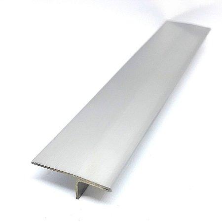 Perfil T Inox para acabamento entre pisos