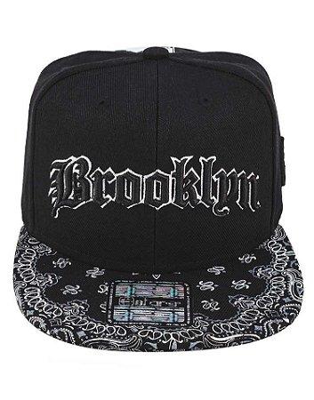 244fc4253ee26 Boné Brooklyn Original Aba Reta Snapback E-Stars Edição Especial ...