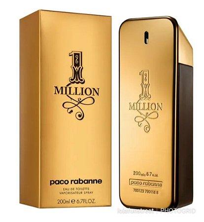 Perfume 1 Million Paco Rabanne Masculino Eau de Toilette 200ml