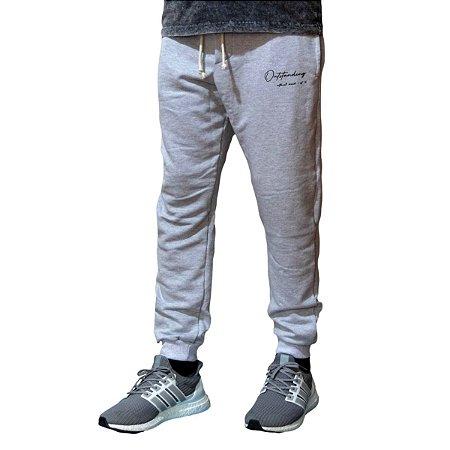 Calça de Moletom Jogger Outstanding Lifestyle Cinza Mescla National Brand