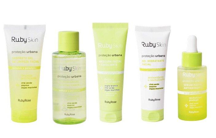 Kit 5 Produtos cuidados pele Proteção Urbana - Rubyskin