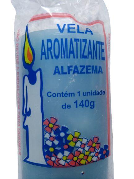 Vela aromática Alfazema 140g colorida - aromatizante e decorativa