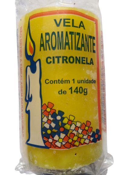 Vela aromática Citronela 140g colorida - aromatizante e decorativa