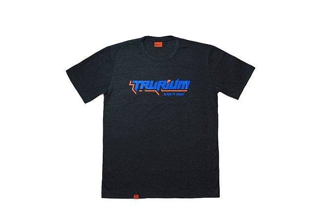Camiseta Trurium Ready to Grind chumbo, estampa azul TAM G