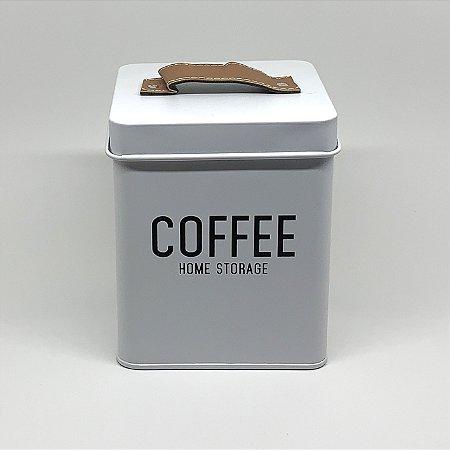 LATA DE MANTIMENTOS COFFEE / CAFÉ QUADRADA COM ALCA BRANCA