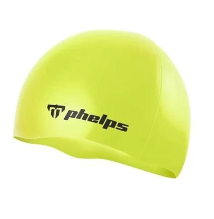 Touca de Silicone Phelps Classic - Amarelo