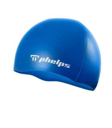 Touca de Silicone Phelps Classic - Azul
