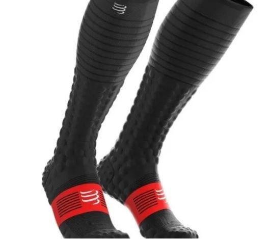 Meia Full Socks Compressport Race & Recovery V3.0 Preto