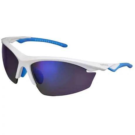 Óculos Shimano EQX2-PL Branco Metálico/Azul Claro