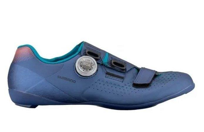 Sapatilha Ciclismo Shimano Rc5 Sh-rc500 Fem. Azul Marinho