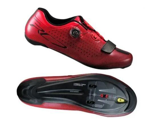 Sapatilha Shimano Rc7 Sh-rc700 Carbon Vermelha