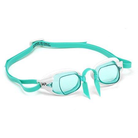 Óculos Natação Michael Chronos Verde Branco
