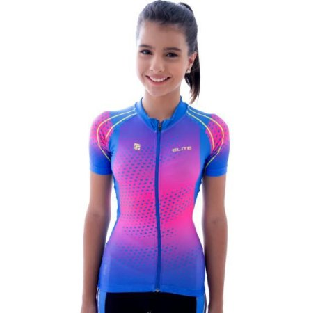 Camisa ciclismo elite bike colors uv 50 bike miles hundred