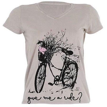 Camiseta Marcio May Give Me Ride Feminina - Cinza