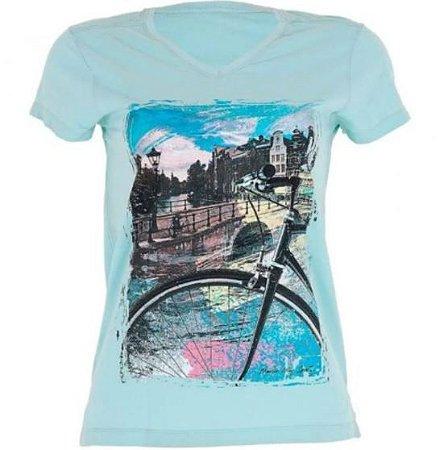 Camiseta casual feminina marcio may amsterdam city