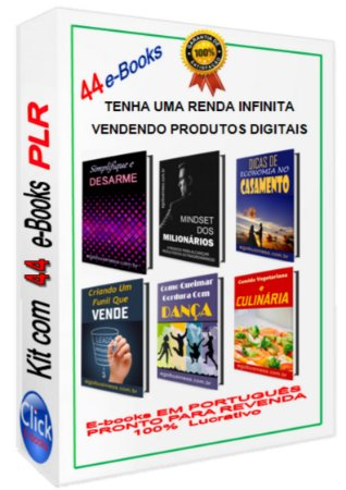 Kit Com 44 E-books PLR