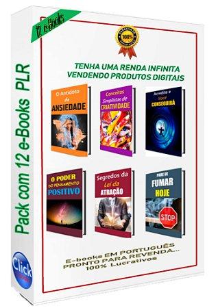 Pack com 12 E-books PLR