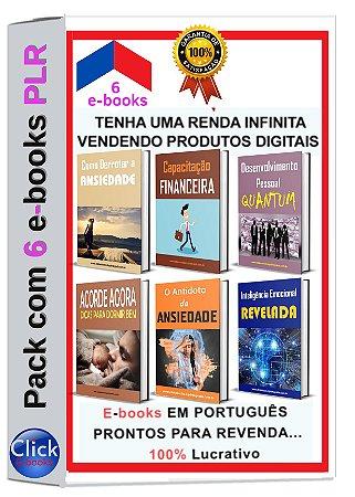 Pack com 6 e-books PLR + 3 Bônus