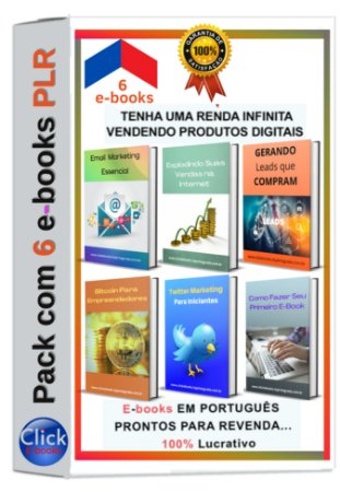 Pack com 6 E-books PLR de Marketing Digital