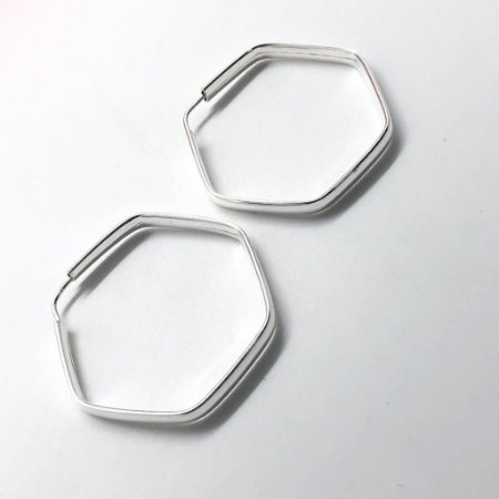 Argola Hexagonal 40MM