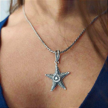 Colar Prata Estrela do Mar